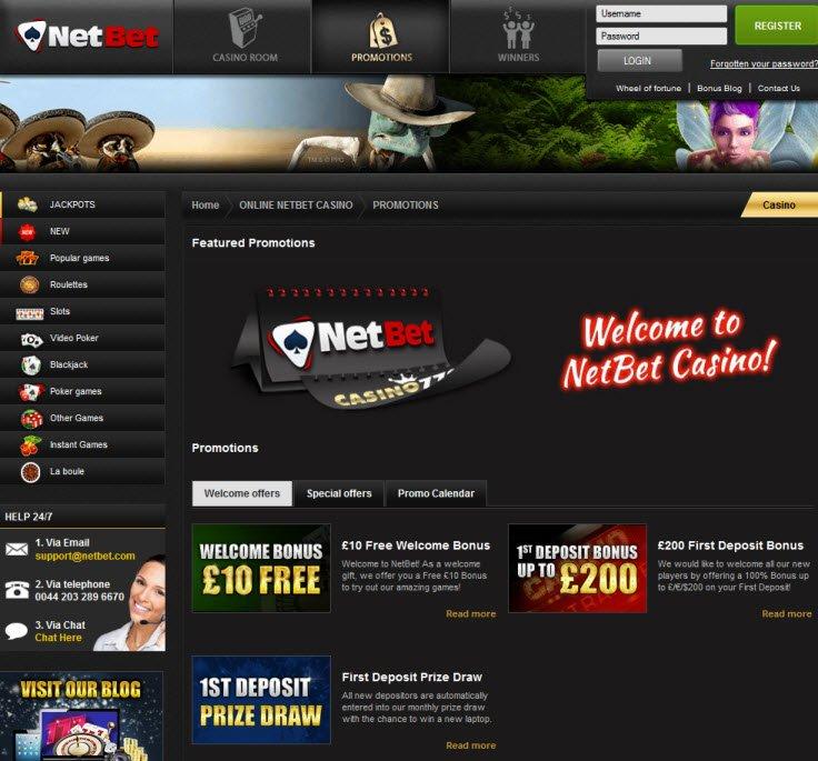 casino welcome netbet
