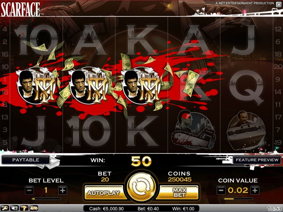 Scarface™ Slot Machine Game to Play Free in NetEnts Online Casinos