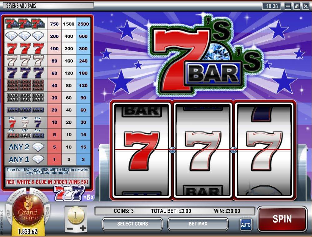 Sevens And Bars Slot Machine