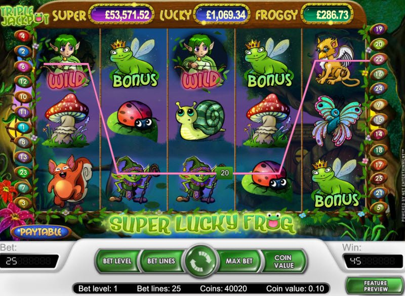 Super Lucky Frog Slot Machine - Play Online for Free Now