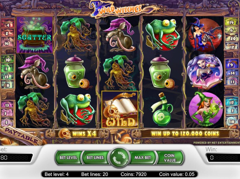 Wild Witches Slots Slots - Spelupplägg Wild Witches Slots Game