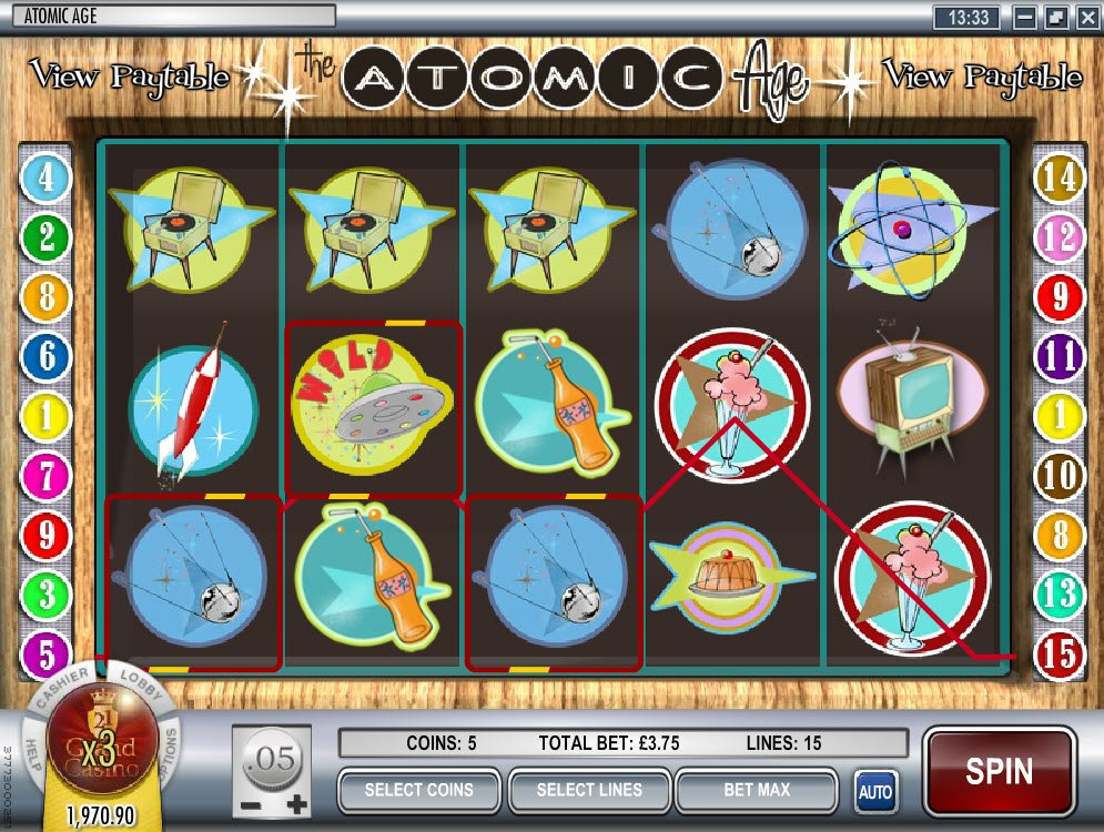 Play Atomic Age Slot Machine Free with No Download