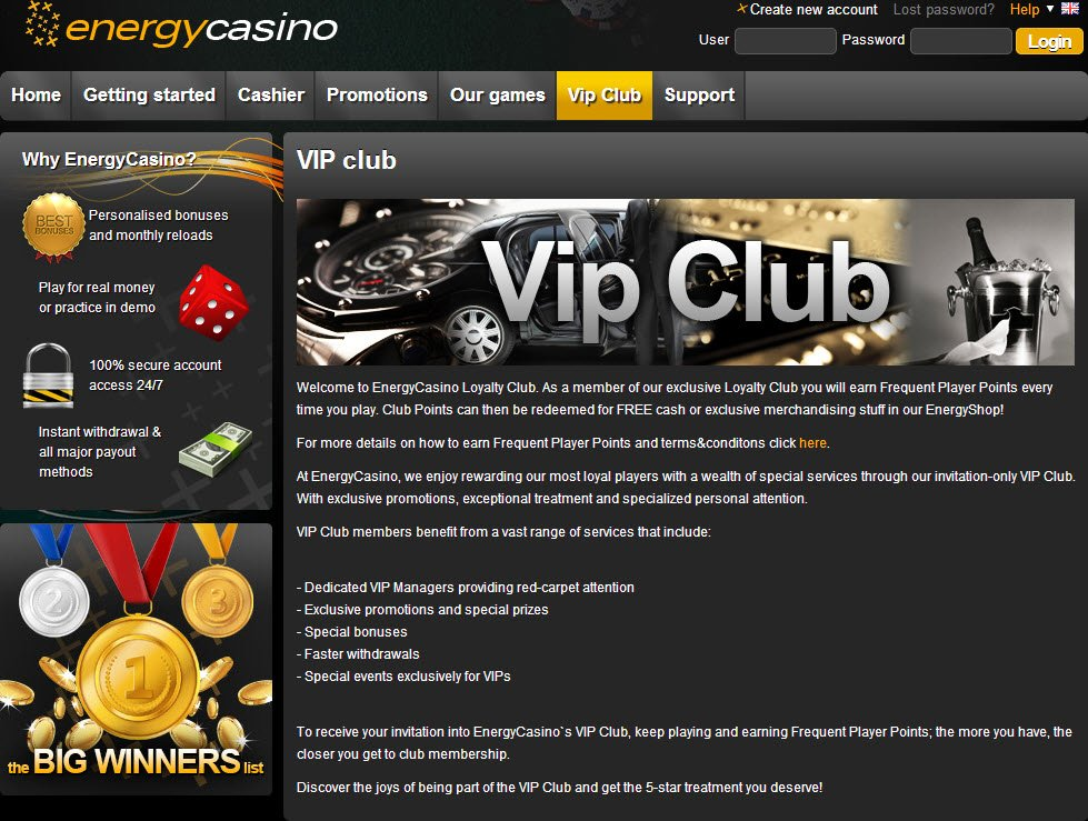 Обзор Energy Casino информация, бонусы,