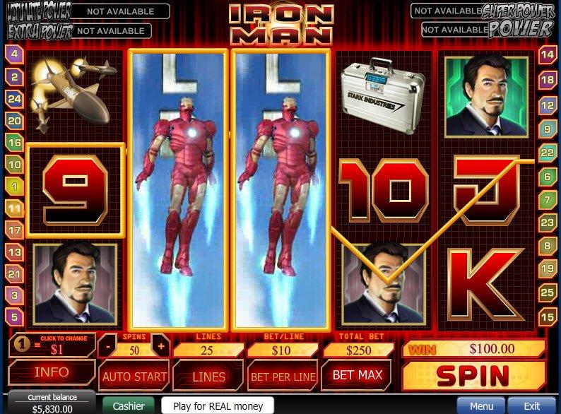 Iron man slot machine review