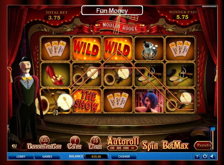 Moulin Rouge Slot Machine - Review and Free Online Game