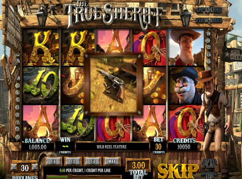 The True Sheriff™ Slot Machine Game to Play Free in BetSofts Online Casinos