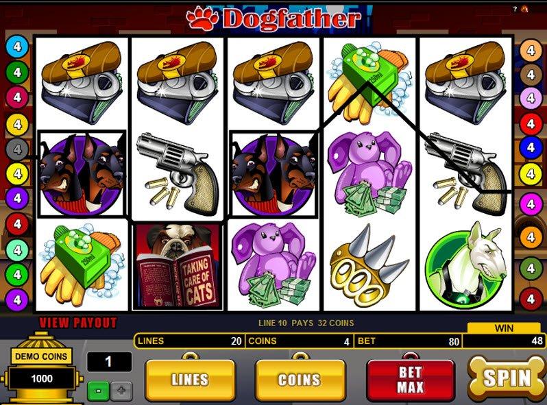 Dogfather slot machine online microgaming hand omania