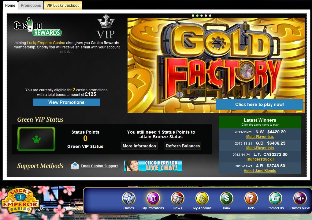Lucky emperor flash casino are casinos good to work for