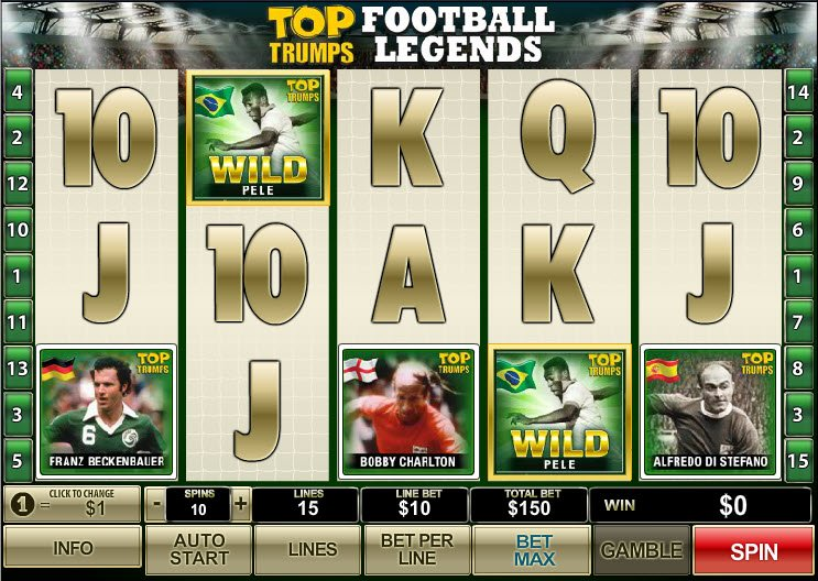 Play Top Trumps Football Legends online slots at Casino.com