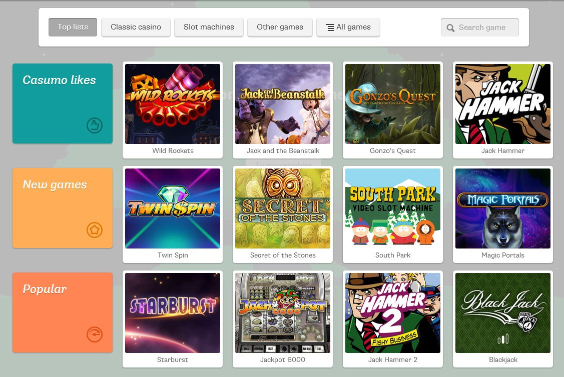 Spiele den Attraction Slot bei Casumo.com