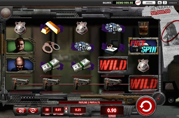 Crime Pays Slot Machine - A Free to Play Online Casino Game