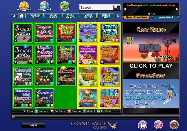 Grand eagle casino no deposit codes