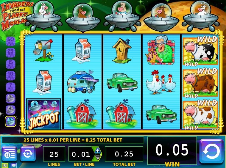 Online-Slot Invaders from the Planet Moolah kostenlos