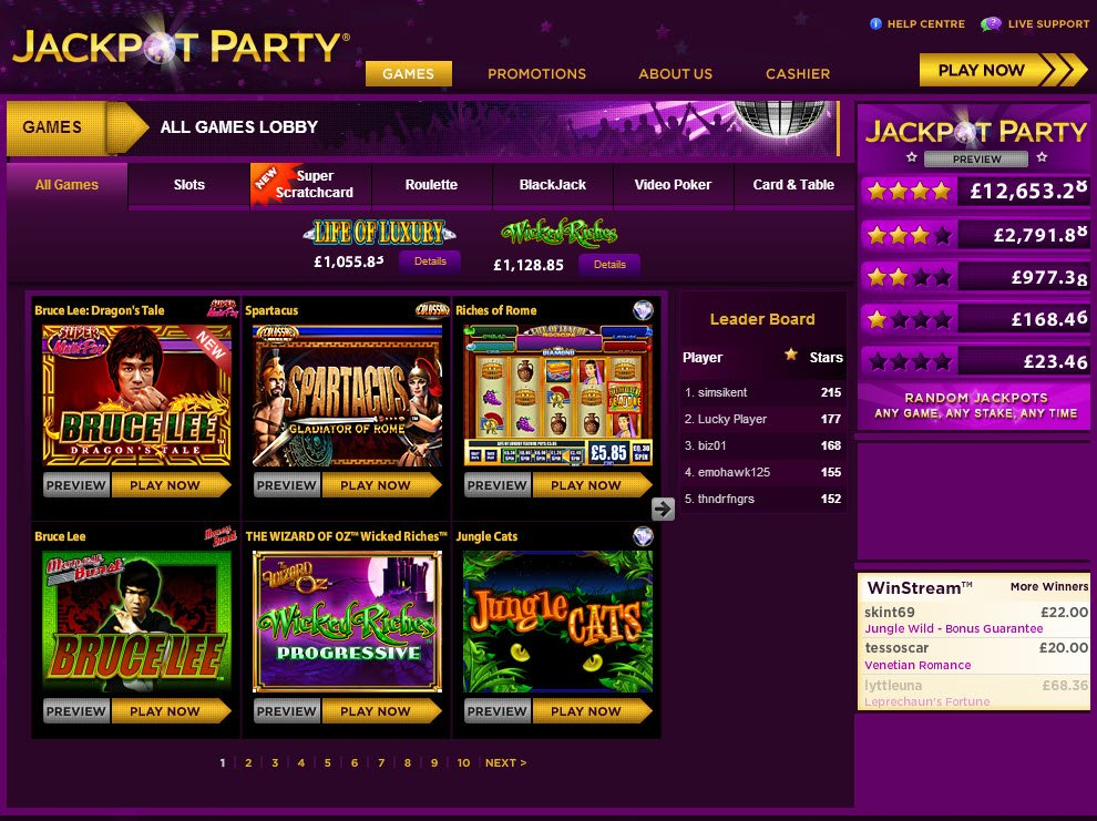 Partycasino raffle jackpot