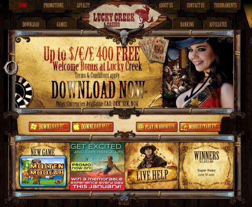 lucky creek casino bonuses