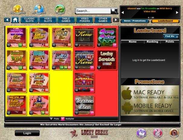 lucky creek online casino reviews
