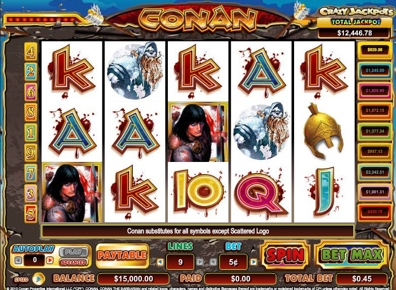 Spiele Conan The Barbarian - Video Slots Online