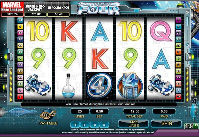 казино играть в фантастическую четверку