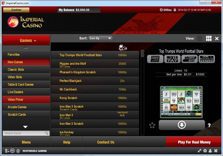 imperial casino online