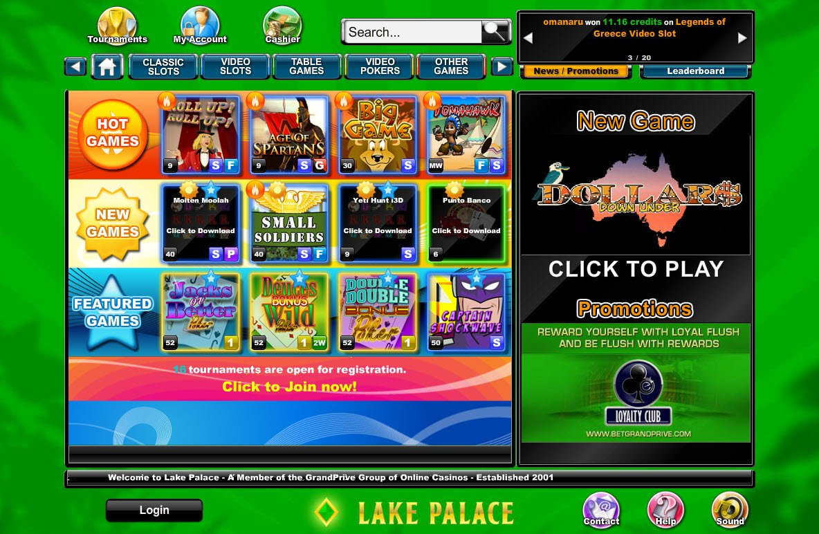 Casino lake palace gambling product retail industry code