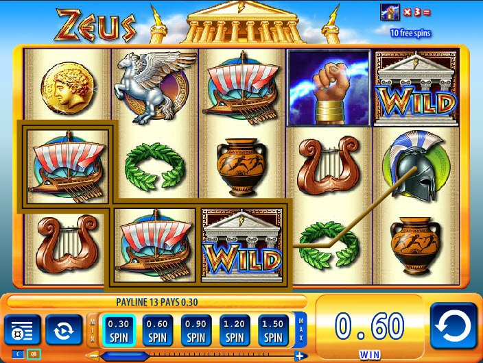 play free slot machine zeus