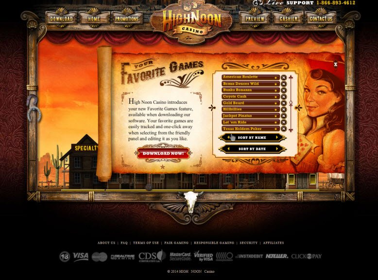 Strike Gold At The High Noon Casino Review