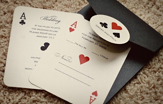plan the perfect casino theme party, Party invitations