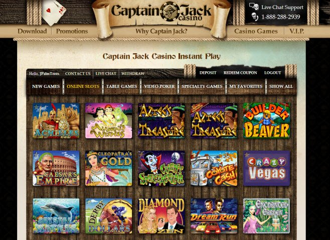 Free spins captain jack casino