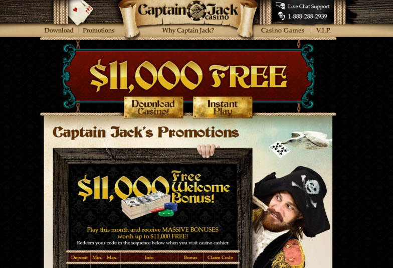 captain jack casino welcome bonus