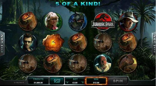 Jurassic Park Slot Machine