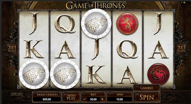 game of thrones casino slot machine