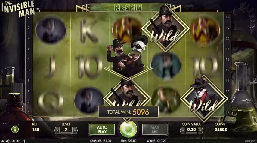 Spiele The Invisible Man Slot - Video Slots Online