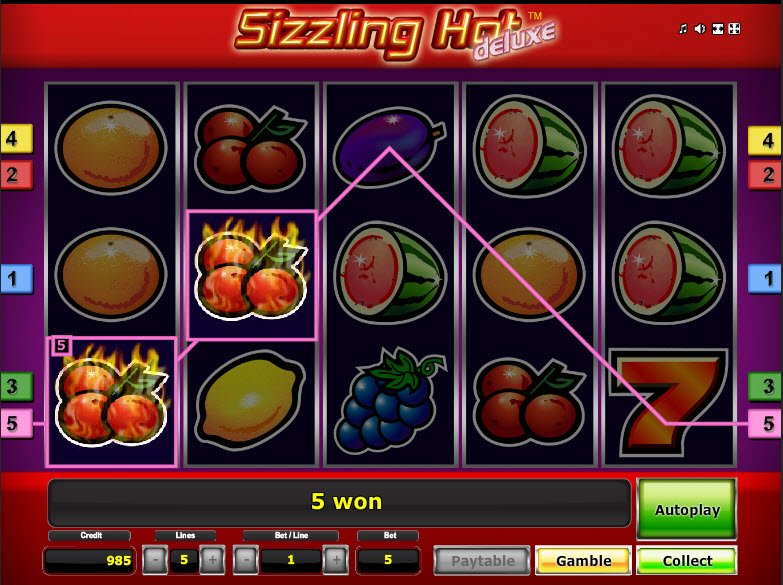 casino online list sizzling games