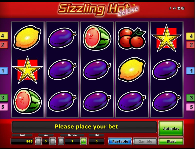 sizzling hot video slot machine