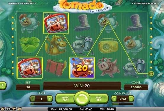 Tornado Farm Escape™ Slot Machine Game to Play Free in NetEnts Online Casinos