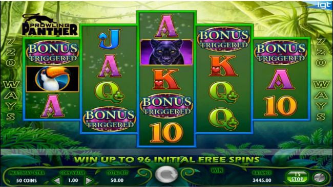 Prowling Panther™ Slot Machine Game to Play Free in IGTs Online Casinos