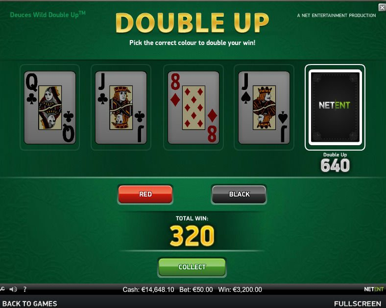 Form a winning hand a win big, with Net Ent's Deuces Wild