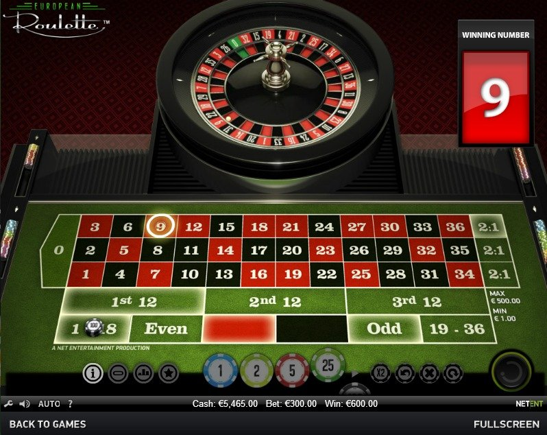Online European Roulette Game