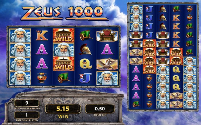 Win Almighty Cash Prizes With The Zeus 1000 Slot Machine Game