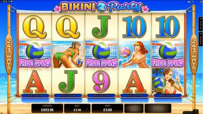 Bikini Party Slot Machine - Free to Play Online Casino Game
