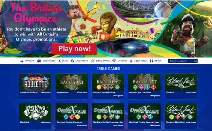 All British Casino Online Review With Promotions & Bonuses