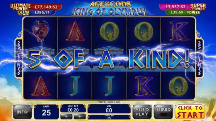 Spiele Age Of The Gods King Of Olympus - Video Slots Online