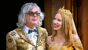 David Walsh with his wife Kirsha Kaechele which he married in 2014. Walsh is known for his extravagant lifestyle.