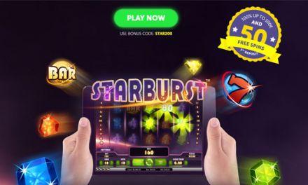 Get 75 Free Spins on Starburst at ExclusiveBet