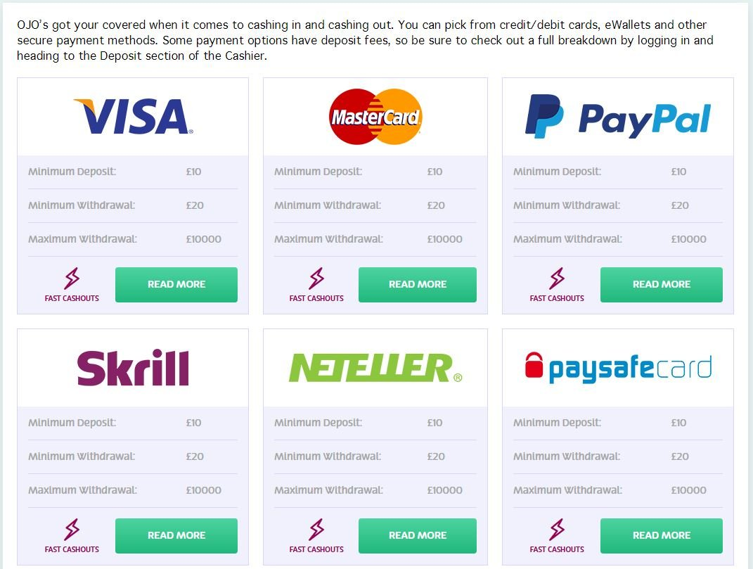 Citadel Casino Payment Method - Instant Banking | PlayOJO