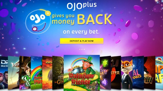 PlayOJO casino homepage