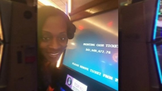 Katrina Bookman Selfie of Jackpot Win