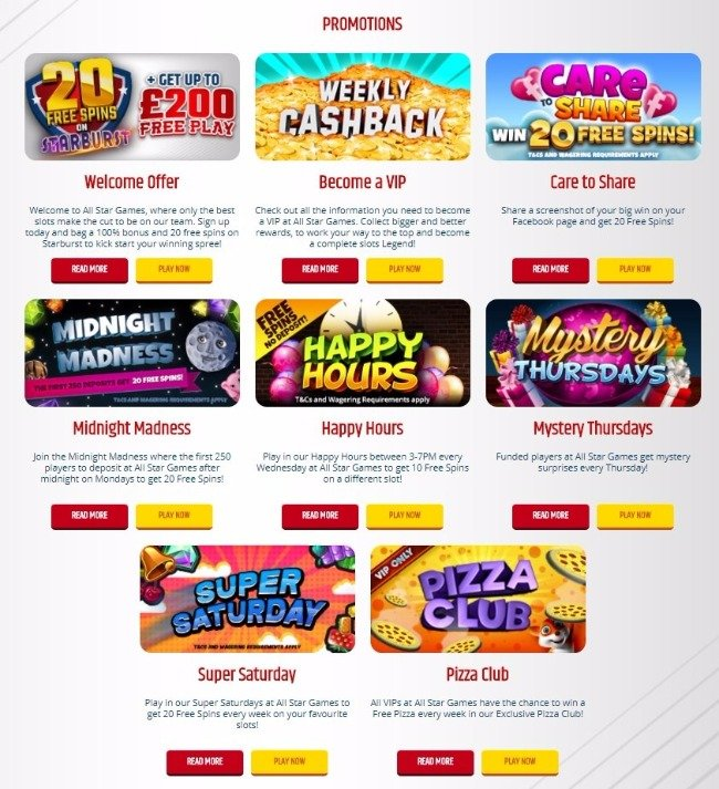 all star casino games
